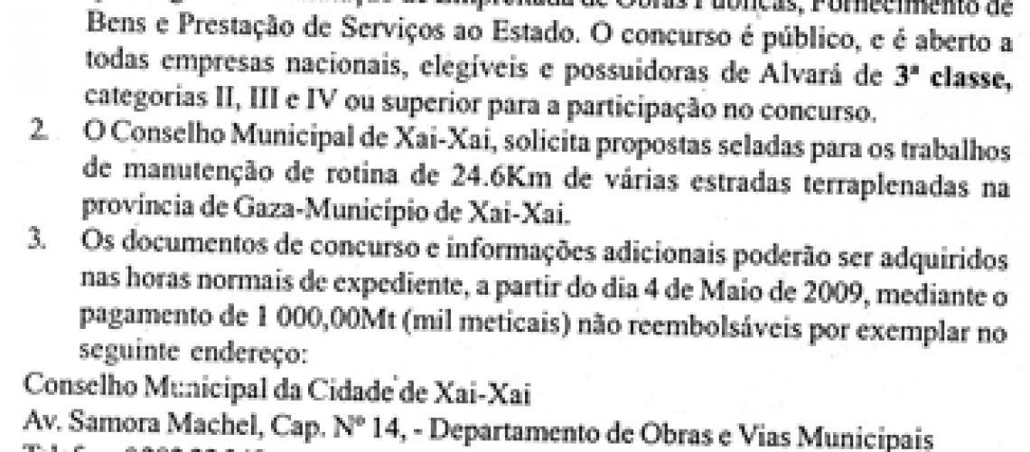 01/MR-TPL/CMCXX-G/2009