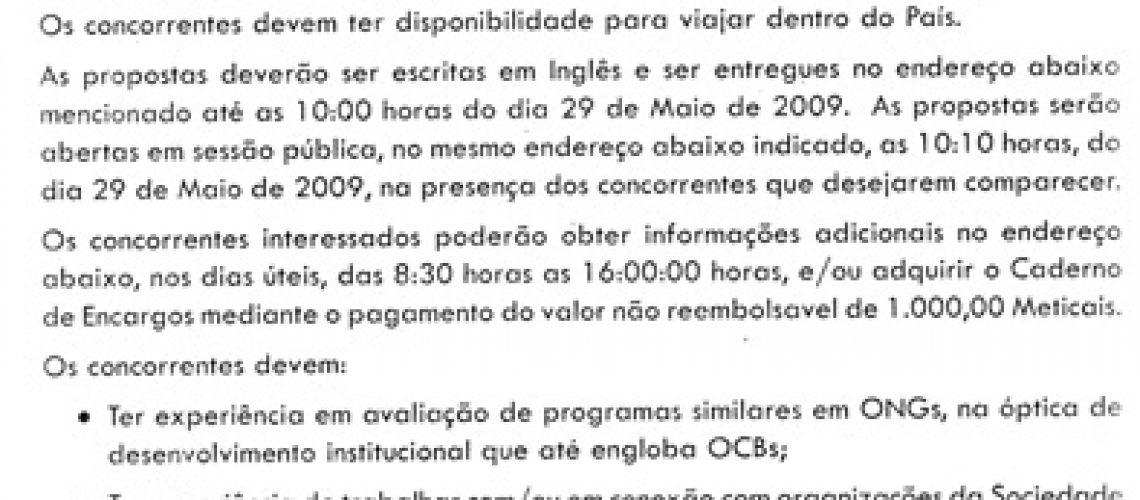 OCNSULTORIA PARA AVALIACAO DE PROGRAMA