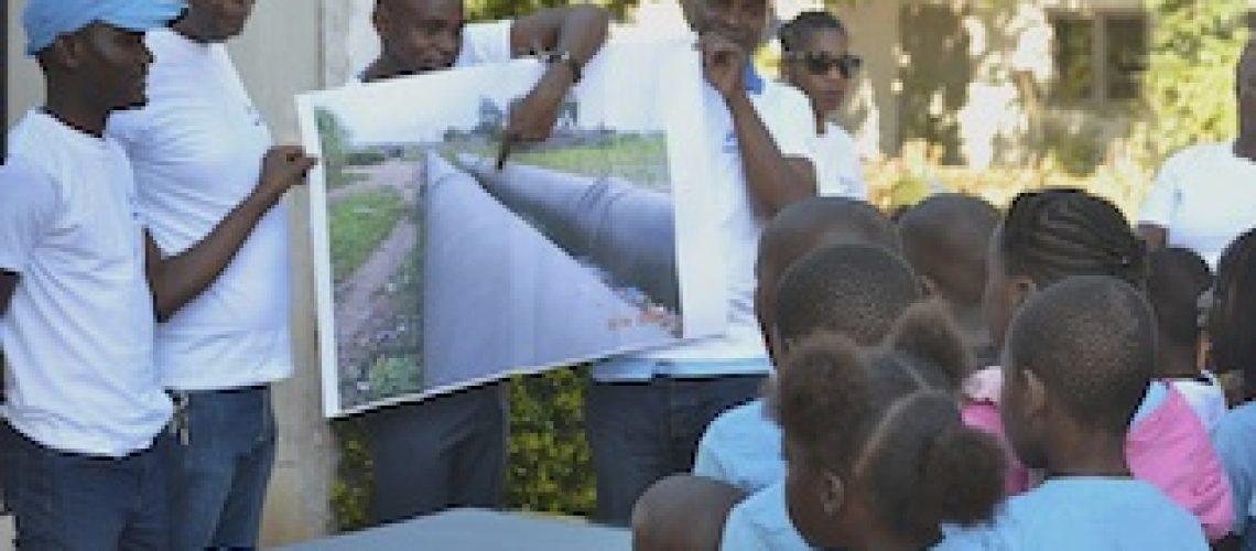 Estação de Tratamento de Água de Umbelúzi: AdeM sensibiliza comunidades circunvizinhas bem como crianças sobre a importância da água