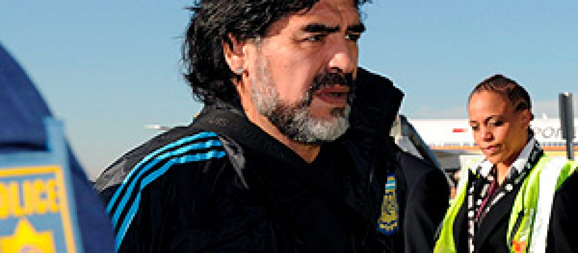 Maradona e Messi chegam à África do Sul