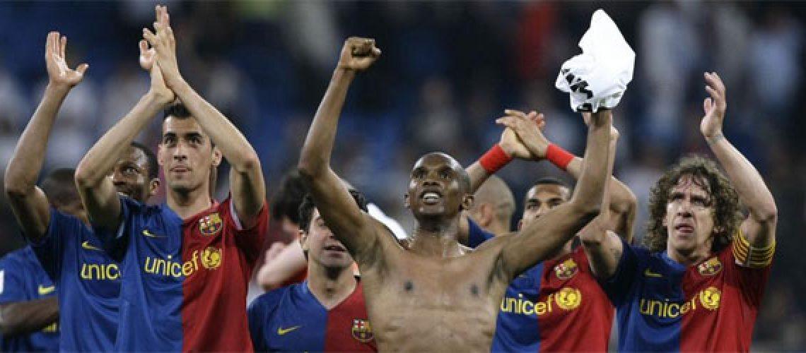Barça comemora título com derrota