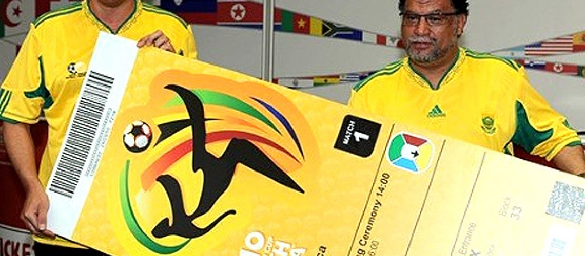 Fifa apresenta modelo de bilhete para o Mundial 2010