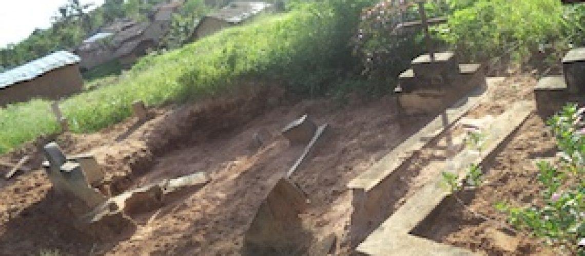 Chuvas destroem campas em Nampula