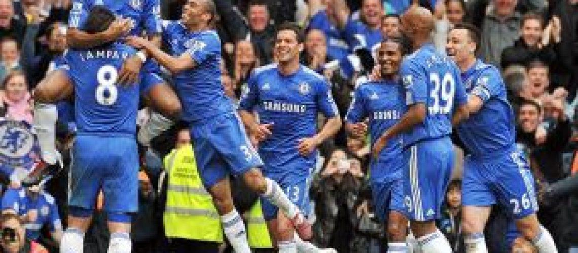 Goleada e festa do Chelsea na Premier League