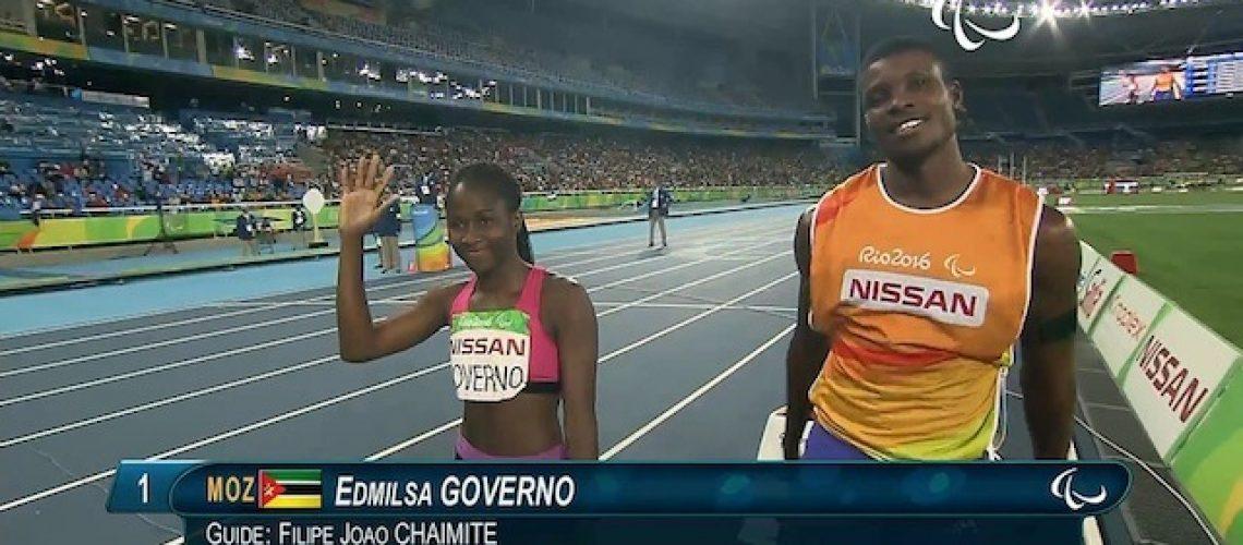 Edmilsa (e Filipe) volta a içar bandeira de Moçambique num estádio olímpico e quebra (novamente) o recorde africano