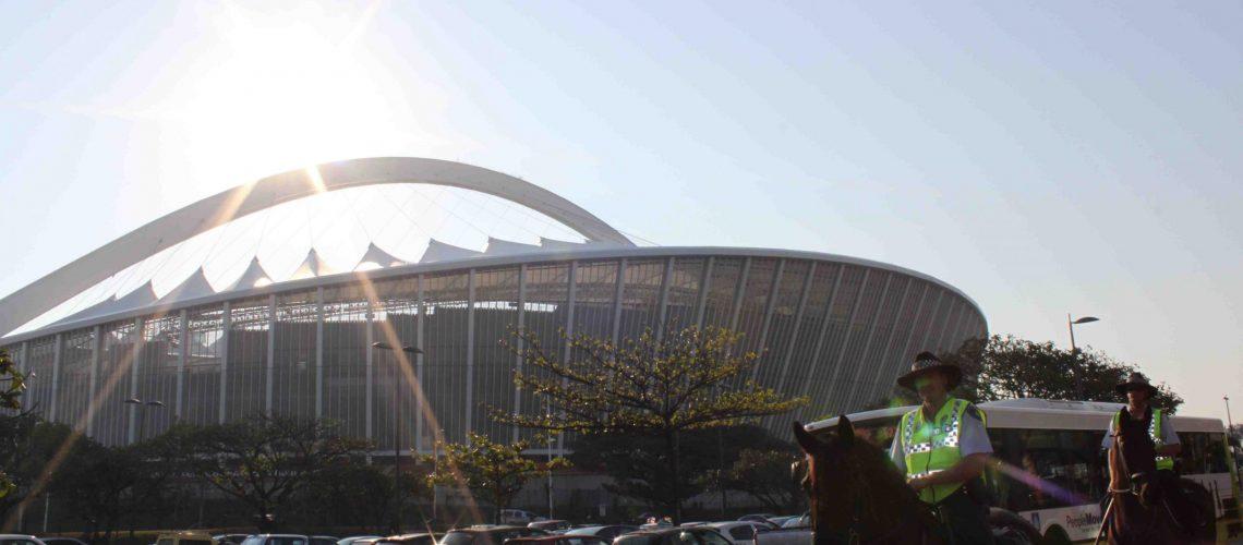 Tudo a postos para Brasil x Portugal no estádio Moses Mabhida