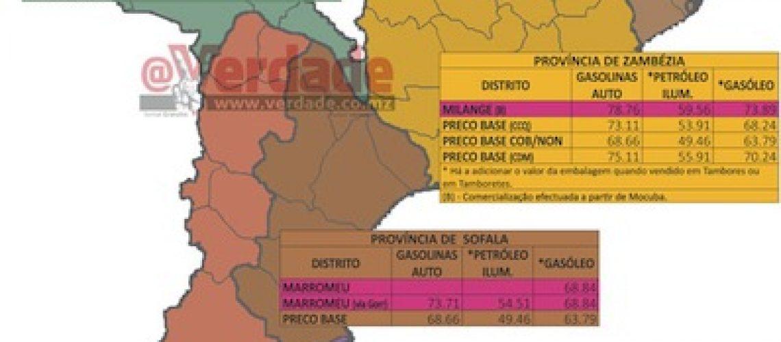 Gasolina e gasóleo 15 por cento mais caros nas zonas mais pobres de Moçambique