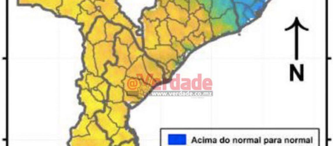"""""""Chuvas abaixo do normal"""" até Fevereiro de 2020 no Sul e Centro de Moçambique"""