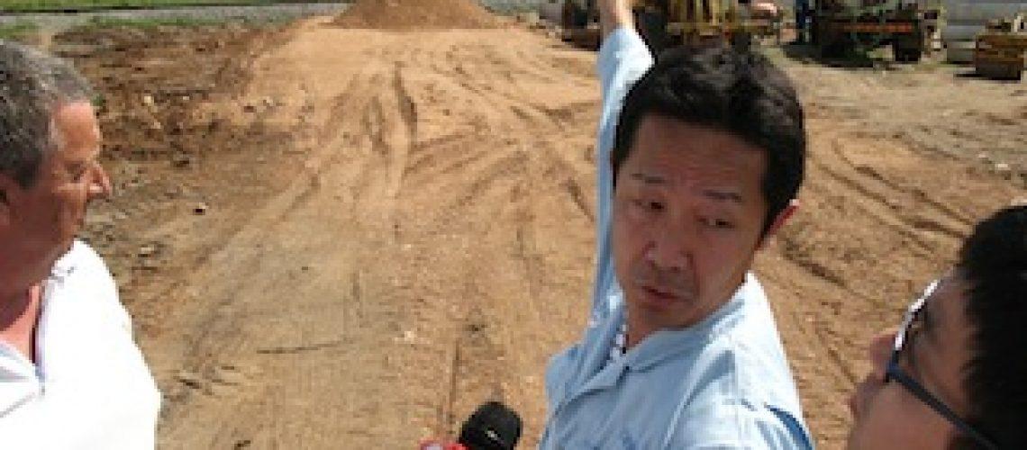 Começou construção da subestação de energia em Namialo