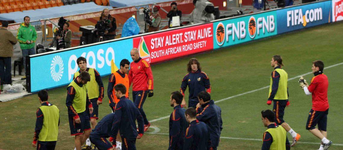 Espanha esconde o jogo no treino antes da final