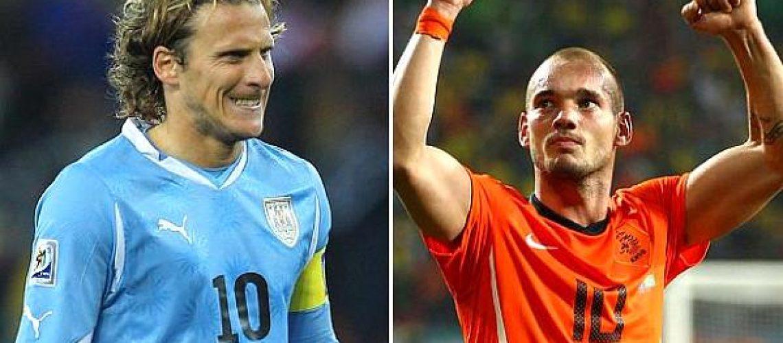 Hoje vamos conhecer o primeiro finalista do Mundial de 2010: Uruguai ou Holanda?