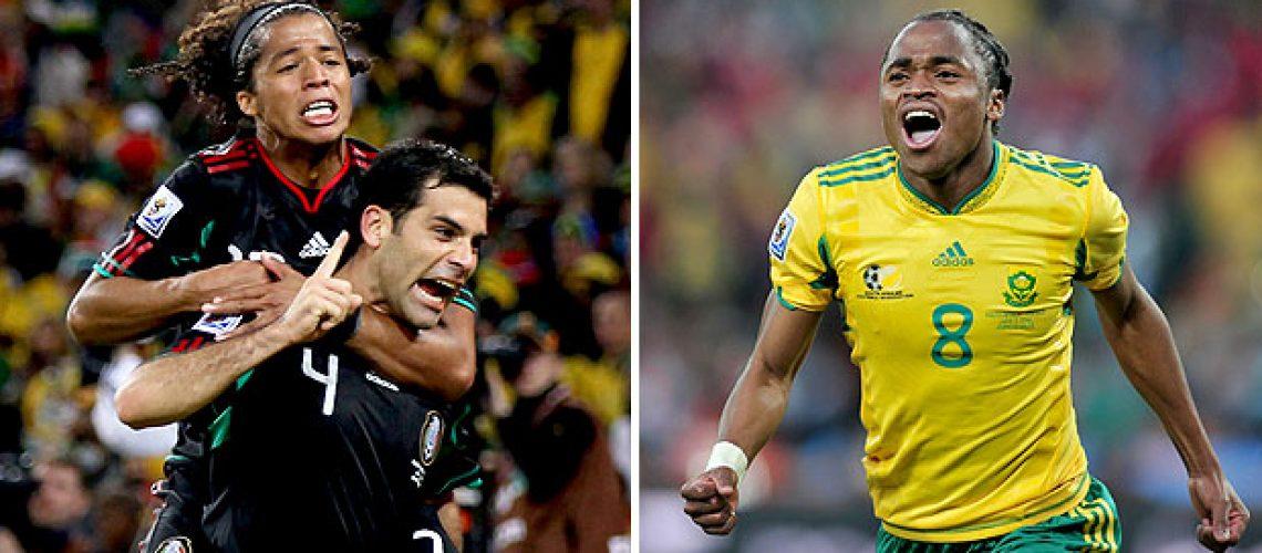 África do Sul e México empatam 1 a 1 na estreia do Mundial