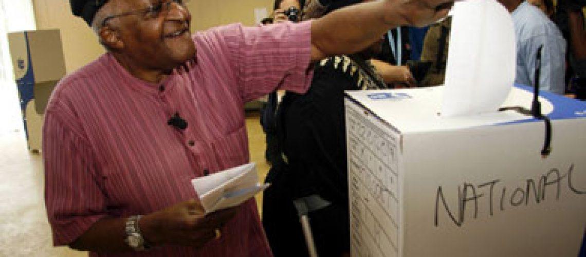 Desmond Tutu quebrou promessa de não votar