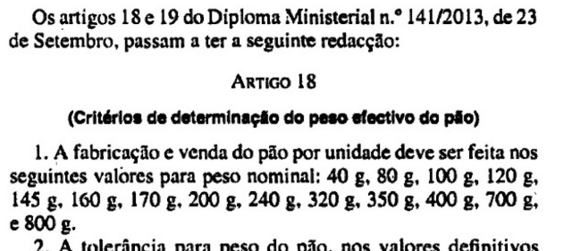 Governo e AMOPÃO chegam a acordo para novo subsídio ao pão