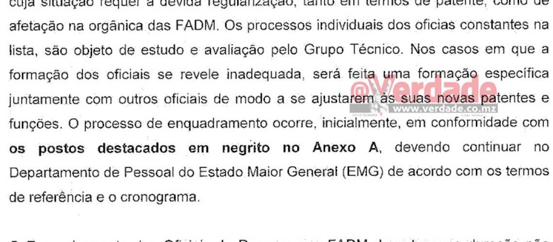 Governo aceita mais 11 oficiais da Renamo no Exército