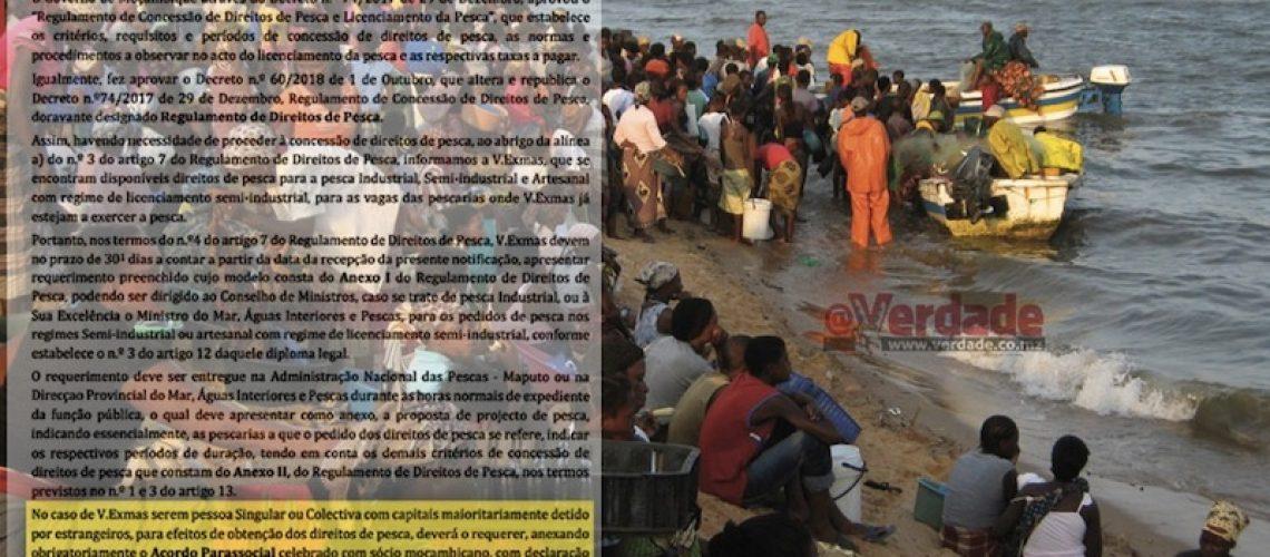 """""""Que a riqueza vá para as mãos dos moçambicanos"""" Agostinho Mondlane sobre legislação que limita direito de pesca aos estrangeiros"""