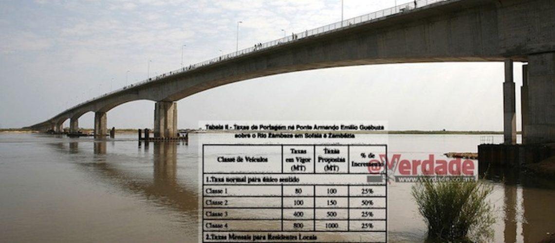Travessia de pontes em Moçambique mais caras 25 a 400 por cento