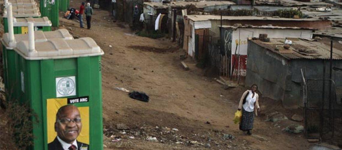 Sul-africanos comparecem às urnas para eleições gerais