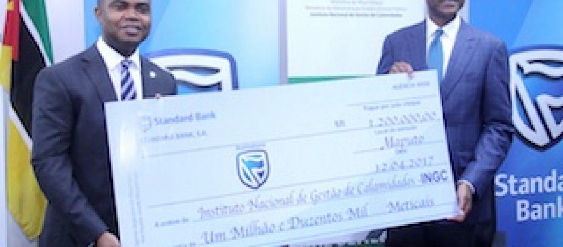 Para as vítimas do ciclone Dineo: Standard Bank apoia INGC com 1.200.000 MT