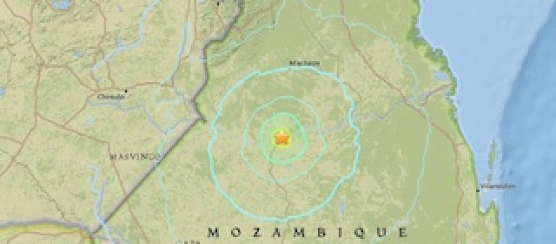 A terra tremeu no Centro de Moçambique